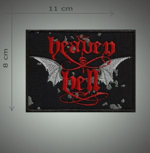 Hell and heaven embroidered patch