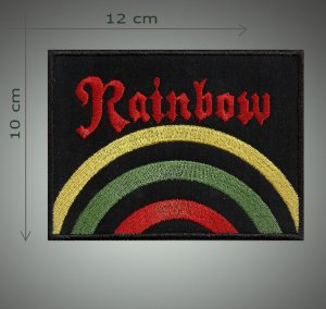 Rainbow embroidered patch