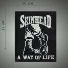 Skinhead embroidered patch