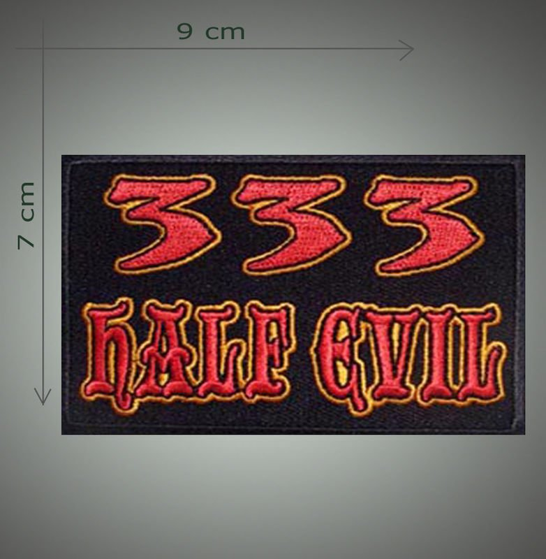 Half evil 333 embroidered patch