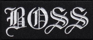 Boss embroidered patch