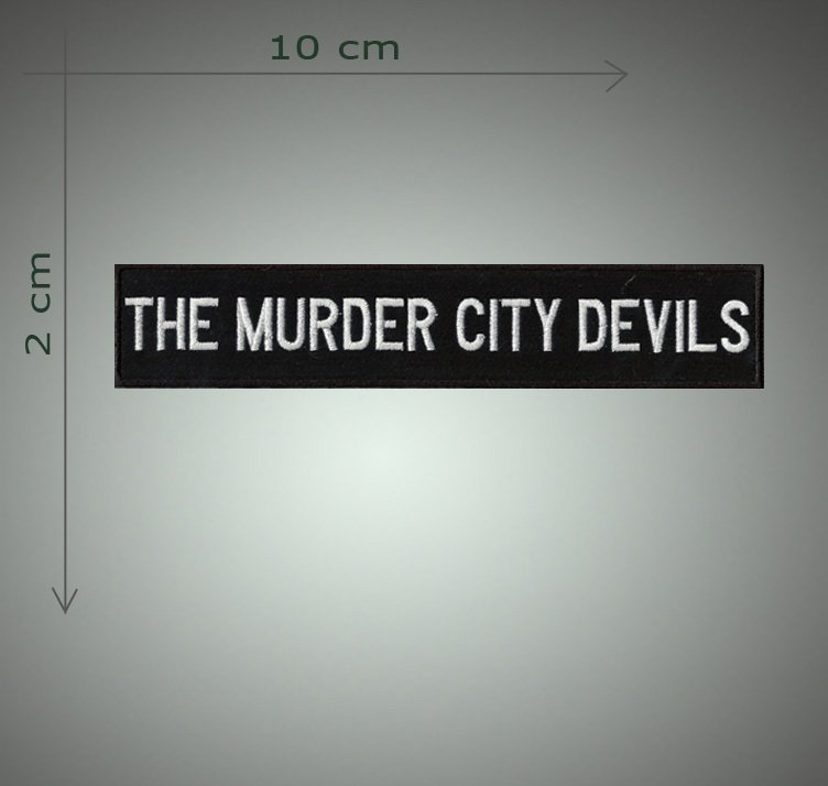 The murder city devils embroidered  patch