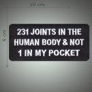 21 joints in the human body embroidered  patch
