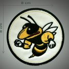 Powerfull bee embroidered  patch