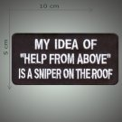 Help from above embroidered patch