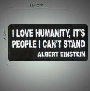 I love humanity embroidered patch