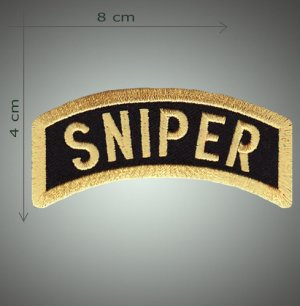 Sniper embroidered patch