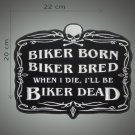 Biker bred embroidered patch