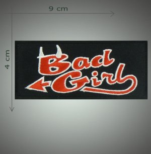 Bad girl embroidered patch