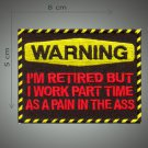 I work part time embroidered patch