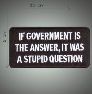 A stupid question embroidered patch