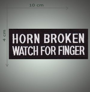 Horn broken embroidered patch
