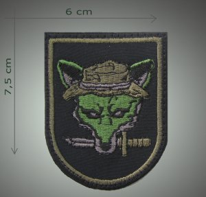 Fox embroidered patch