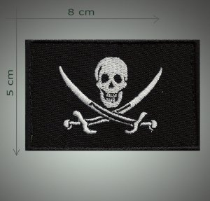 Pirates flag embroidered patch