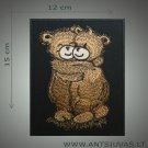 Bears hug embroidered patch
