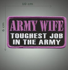 Army wife embroidered patch