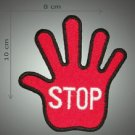 STOP embroidered patch