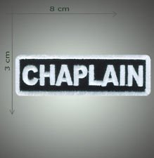 Chaplain embroidered patch