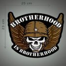 Brotherhood is brotherhood embroidered patch
