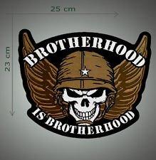 Brotherhood is brotherhood embroidered patch