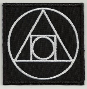 Alchemical symbol embroidered patch