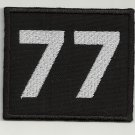 Number 77 embroidered patch