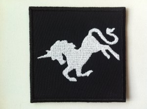 Unicorn embroidered patch
