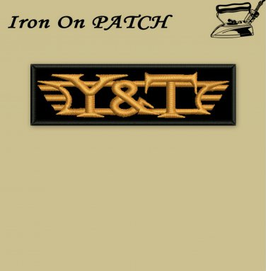 Y&T - embroidered patch, 1,6 X 4,8 (INCHES)