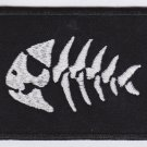 Fish skeleton - embroidered back patch, 9,6 X 12,8 (INCHES)