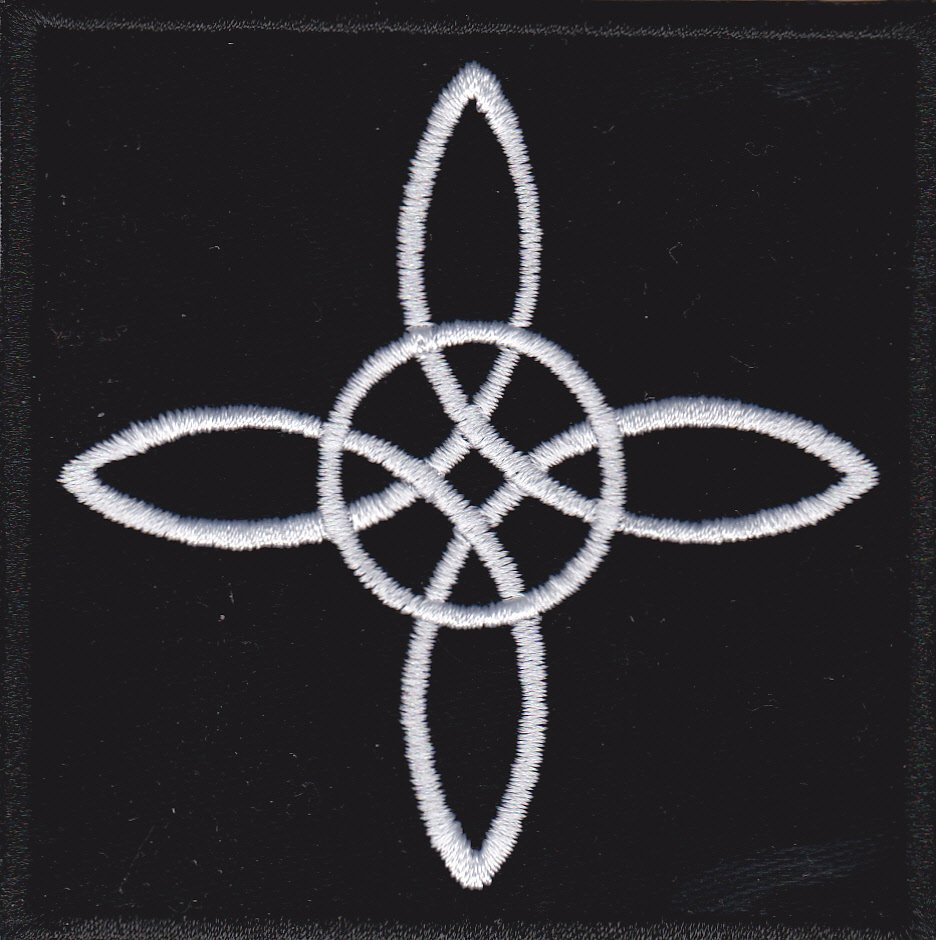 Witch knot - embroidered patch, 3,2 X 3,2 (INCHES)