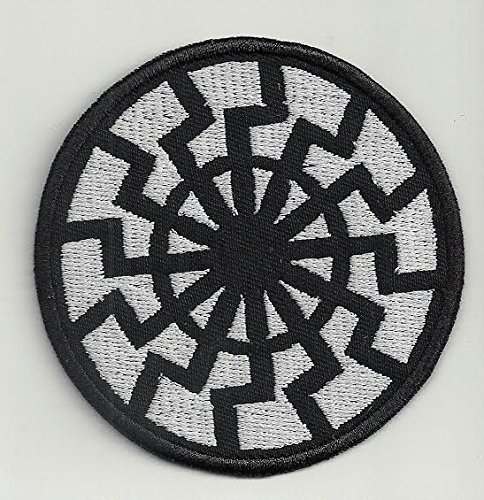 Black sun - embroidered patch, 3,2 X 3,2 (INCHES)