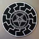 Black sun, baphomet, pentagram b/w - embroidered back patch, 11,2 X 11,2 (INCHES)