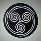 Celtic ornament - embroidered patch, 3,2 X 3,2 (INCHES)