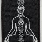 Chakras system - embroidered patch, 4 X 2,8 (INCHES)