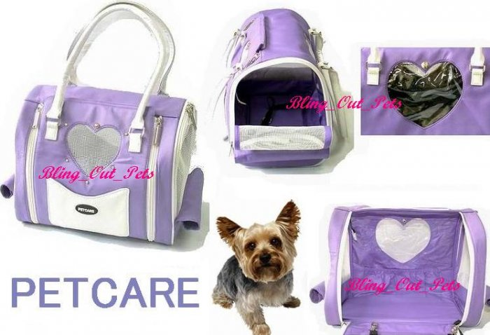 Lavender Petcare Dog Cat Carrier Bag