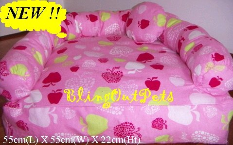 Pink Apples Sofa dog cat Bed