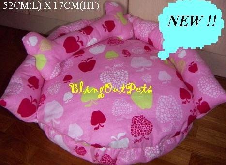 DONUT Pink Apples Sofa dog cat Bed