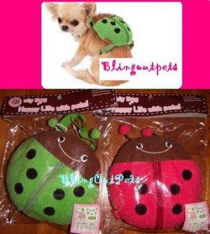 CUTE LadyBird Pets Dog Cat Personal Backpack Bag