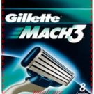8 Original Gillette mach3 Cartridge or Blades