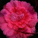 Big shocking Pink Flower hairpin