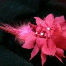 Red wine Chiffon hairpin