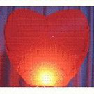 Wholesale lot of 12 (twelve) Heart Shaped Sky Lanterns