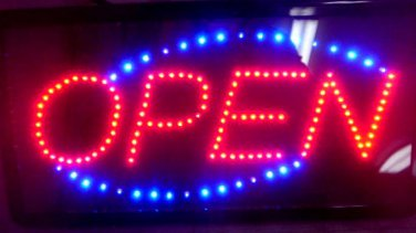 LED Lighted OPED Sign with motion lights