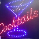 Bright LED motion sign new 120VAC Cocktails pouring