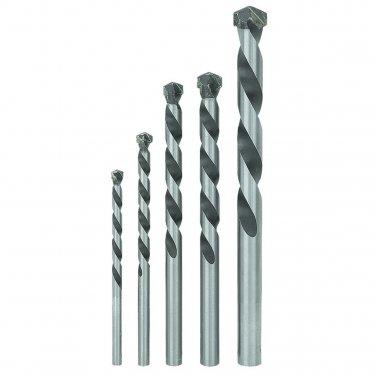 5 Piece Masonry Drill Bit Set C2 carbide