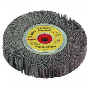 80 Grit Flap Sanding Wheel 6 X 1 Inch NEW