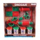 16 Piece Adventure Planet Create a Dough Dinosaur set
