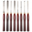 8 Piece High Speed Steel Professional Wood Turning Set