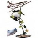 Wrought Iron Hanging Frog Bird Seed Feeder Metal