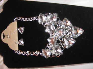 Bridal Triangle Rhinestone Necklace